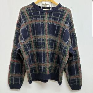 Eddie Bauer Vintage Plaid Wool Sweater XXL